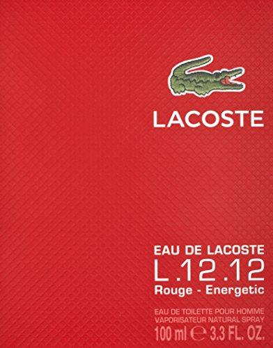 Topnotch Lacoste 12.12 Red Eau De Toilette 100ml Spray for Him: Amazon.co JZ77