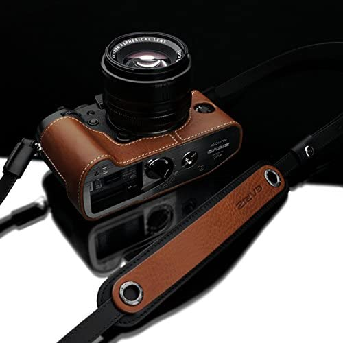 Canon Sigma Samsung Panasonic Fuji Ricoh Sony Leica Camel Brown Nikon Gariz Genuine Leather XS-CHLSNCM2 Camera Neck Strap for Mirrorless Cameras Olympus