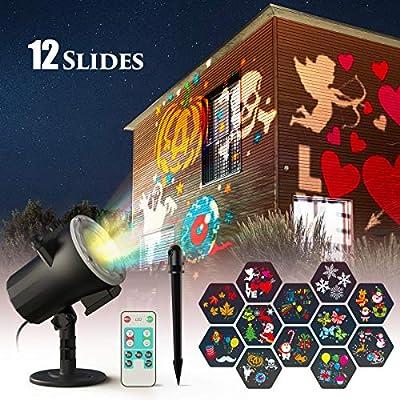 CACAGOO Luces de Proyector de Navidad de Halloween, proyector de ...