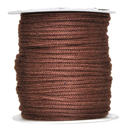 - Mandala Crafts Soft Drawstring Replacement Rope Upholstery Crochet Macramé Cotton Welt Trim Piping Cord (Brown, 2mm)