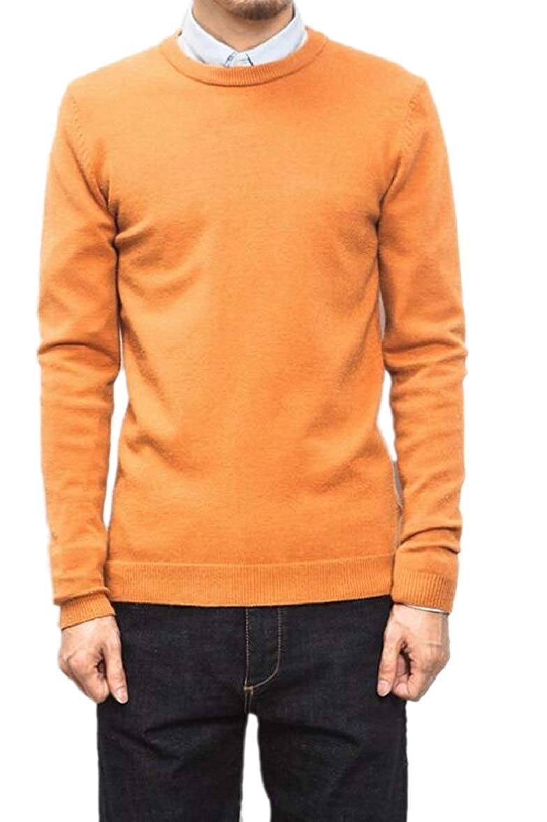 RRINSINS Mens Casual Slim Fit Pullover Long Sleeve Crewneck Knit Plus Size Sweater