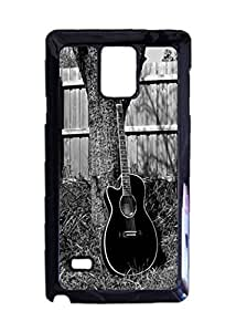 Acoustic guitar Custom Image Case, Diy Durable Hard Case Cover for Samsung Galaxy Note 4 , High Quality Plastic Case , Black Case New