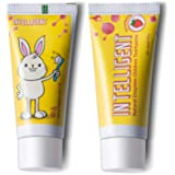 Intelligent Enzymatic Kids Toothpaste – White Healthy Teeth for Baby and Toddler, Natural Non-Foaming Infant Tooth Paste, Sulfate-Free, Fluoride-Free, Mint-Free, 2 pcs x 1.37 Ounce (Strawberry)