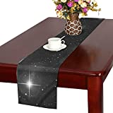 Jnseff Star Constellation Universe Twins Sun Space Table Runner, Kitchen Dining Table Runner 16 X 72 Inch For Dinner Parties, Events, Decor