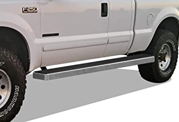 Running Boards Nerf Bars Side Steps Step Rails Compatible with 1999-2016 Ford F250 F350 Super Duty Regular Cab APS iBoard Silver 5 inches