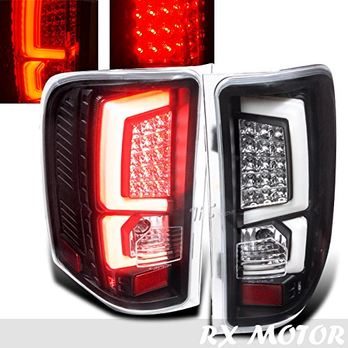 Chevy Silverado 1500 2500 3500 Crew Cab Black LED Bar Tail Rear Brake Signal Lights C-streak Parking Light