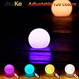 AosKe Pool Floating Lights LED Balls Light Garden Deco Balls Light, Party, Pool, Patio, Waterproof Color Changing Ball (5.9-Inch)