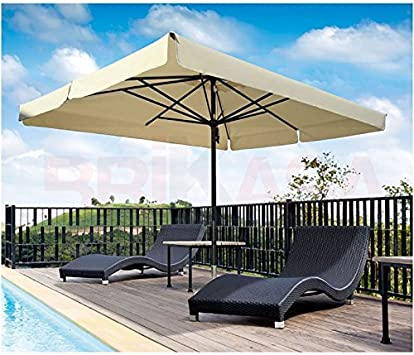 Sombrilla de jardín con poste central, 3 x 4 metros: Amazon.es: Jardín