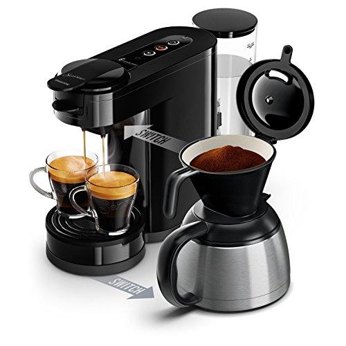 Philips HD6592/61 Senseo Switch 2 en 1 – Cafetera de monodosis (cafetera y filtro), color negro