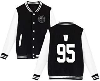 mainlead BTS Bangtan Boys Baseball Uniform Jacket Coat Sweater(V, L) GM-ST-D016-V-L