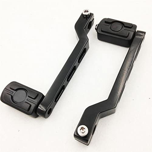 HK Moto Black Aluminum Heel//Toe Shift Levers with Skull Shifter Pegs For Harley Davidson Electra Glide 1988 and later