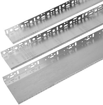 6x Alu-Sockelschiene 140mm Profilschiene Sockelabschluss Sockelprofil Tropfkante