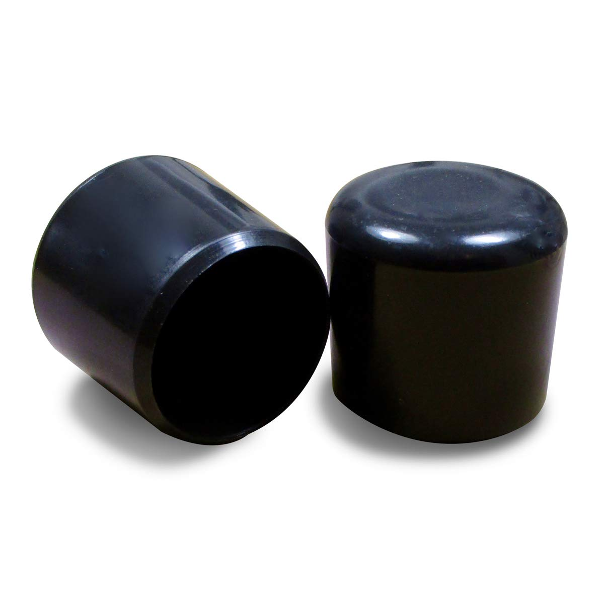Ajile - 24 unidades - Contera plá stica redonda D: 16 mm - NEGRA - protector de suelo para patas de sillas - EVR116-L