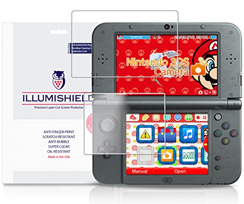 iLLumiShield-New-Nintendo-3DS-XL-Screen-Protector-2015-with-Lifetime-Replacement-Warranty-Japanese-Ultra-Clear-HD-Film-with-Anti-Bubble-and-Anti-Fingerprint-High-Quality-Invisible-LCD-Shield-3-Pack-OE