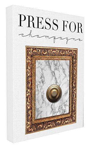 - Stupell Home Décor Press Button For Champagne Stretched Canvas Wall Art, 16 x 1.5 x 20, Proudly Made in USA