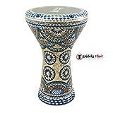 Gawharet El Fan 17'' Mother of Pearl Darbuka''Blue River'' Darbuka Drum Percussion