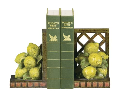 Sterling Home Pair of Lemon Orchard Bookends, 5-3/4-Inch Tall
