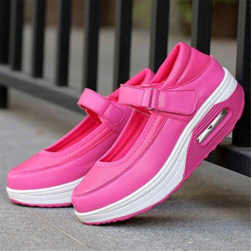 Spring Suela E SHINIK Wedge Summer para Casual Sneakers Hebilla ligera Fall Tulle Comfort de redonda punta Heel Zapatos mujer UII8gq