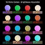 Moon Lamp Night Light,3D Printing 16 Colors Moon