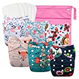 Best Baby Cloth Diapers - Babygoal Reusable Cloth Diapers for Girls, Adjustable Washable Review