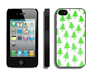 New Design Christmas tree iPhone 4 4S Case 10 Black