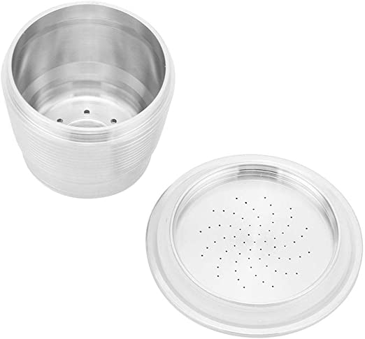 Filtro de la c/ápsula del caf/é del acero inoxidable filtro reutilizable recargable de la c/ápsula del caf/é con la cuchara para la m/áquina de Nespresso