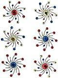 Karen Foster Design, Scrapbooking Craft Embellishment, Swirl Burst Brads, Sparklers