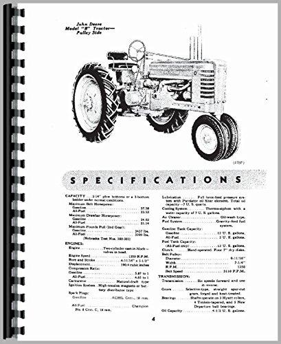 John Deere B Tractor Owner Operators Manual s/n 201000 ()