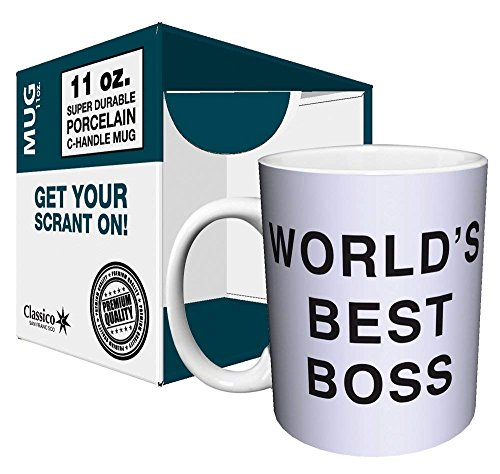 Dunder Mifflin (The Office) World's Best Boss TV Television Show Ceramic Gift Coffee (Tea, Cocoa) 11 OZ Mug, By CulturenikOfficially Licensed from NBC/Universal TV. by Culturenik (Image #1)