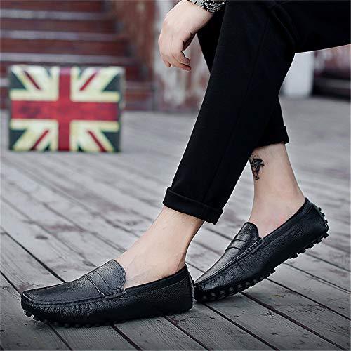 d6fc6aa7cb8 Cómodo 39 fei Guisantes Conducción black Lazy Loafers Transpirable Hombre  Zapatos Calzado Barco Punta Cuero Ocio Gpf De Zapato ...
