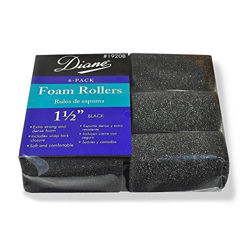 - Diane Foam Rollers, Black 1.5
