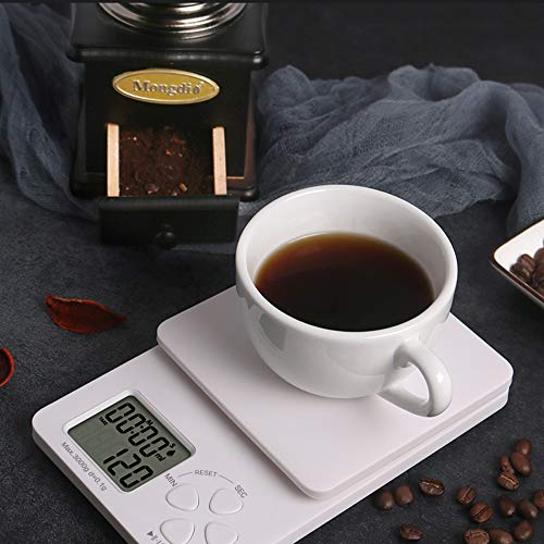 Digital Coffee Scale with Timer, Digital Kitchen Scale Weight Grams and Ounces (2 Batteries Included)