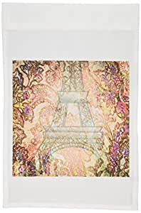 3dRose fl_59895_1 Paris Romance-France-Eiffel Tower-Art Garden Flag, 12 by 18-Inch