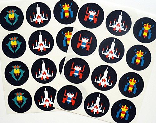 retro-arcade-sticker-galactic-fighter-24-pack