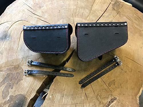 Muscle Black Set Seitentaschen Harley Davidson VROD V-Rod Schwingentasche schwarz Leder Nightrod Night Rod Satteltaschen