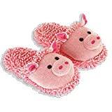 Women's Aroma Home Pink Pig Fuzzy Friends Slippers