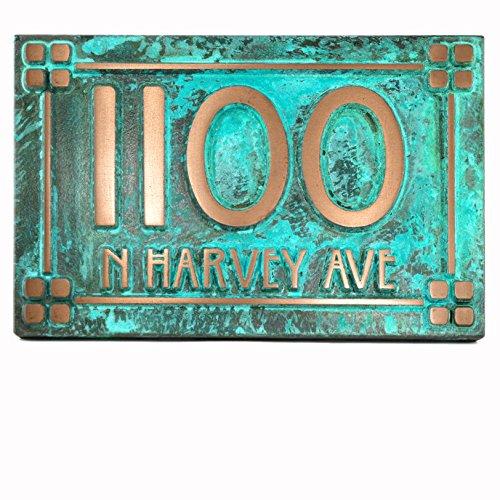 willow-craftsman-address-plaque-w-lines-12x8-raised-bronze-verdi-coated-house-number-sign