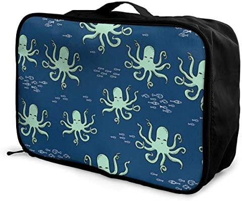 Bolsa de almacenamientoSea Ocean Funny Octopus Travel Duffel Bag Durable Luggage Organizer For Holiday Gym Storage Bag Weekend Tote Bag-Pack of 1: Amazon.es: Equipaje