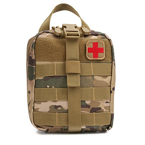 (Orca Tactical MOLLE Rip-Away EMT Medical First Aid Pouch (Bag Only) (Multicam))