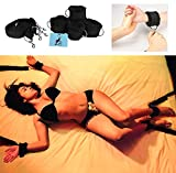 High Quality Under Bed Restraints for Sex Play: Adjustable Straps. Furry Cuffs Shanhai. Bondage: Ankles Wrists feet legs. BDSM kit. For adult men & women. 50 shades of grey stimulation. King sized.