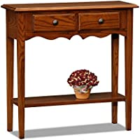 Leick Petite Two Drawer Console Table -Medium Oak