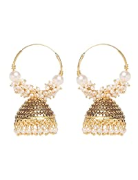Indian Bollywood Gold Plating women Hoop jhumki Earring