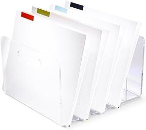 "russell+hazel Acrylic Collator, Clear, 10"" x 11.5"" x 6.5"""