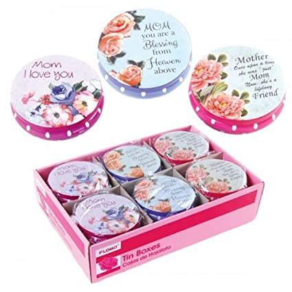 FLOMO Round Tin Jewelry Box (Set of 3) Mothers Day, jewelry fashion,