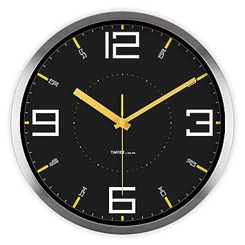 PDZD KS Decoración de Cristal Reloj Reloj réplica Reloj de Pared Reloj de Cuarzo de decoración para Salón Dormitorios Oficina: Amazon.es: Hogar