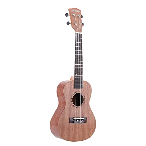 "Ammoon 24"" Ukelele Sapele Diapasón Rosewood Instrumento de 4 Cuerdas Regalo de Año Nuevo"