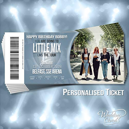 Any name date or venue Little Mix 2019 LM5 Concert Tour Present Gift Card