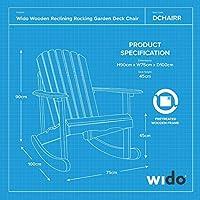 Wooden Rocking Deck Chair Recline Garden Outdoor Furniture Sun Lounger  WIDO