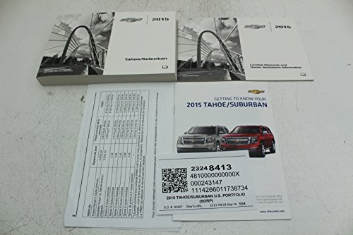 2015 Chevrolet Tahoe / Suburban Owners (Chevy Owners Manual)