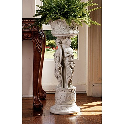 Design Toscano Chatsworth Manor Neoclassical Urn Pedestal Plant Stand (Neoclassical Urn)